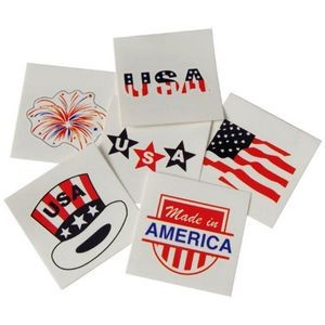 Patriotic Temporary Tattoos (Case of 15)