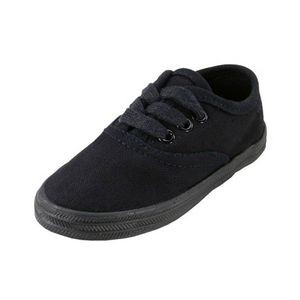 Toddlers' Black/Black Canvas Shoes (Size 5-10)