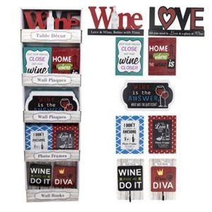 Wine Theme Home Decor Shipper