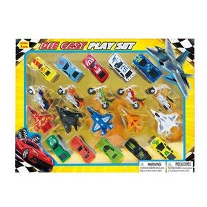 Diecast Airplane, Motorcycle & Car Collection (Case of 24)
