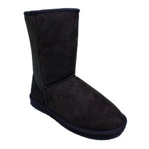 Women's Faux Shearling Boots - Brown