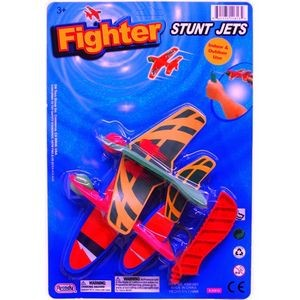 2-Piece 5 Airplane Glider Set With Launcher (Case of 48)