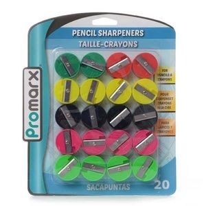 Promarx 20 Piece Pencil Sharpener -Assorted