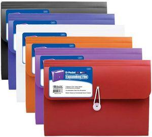 Custom Bazic 7-Pocket Letter Size Poly Expanding File