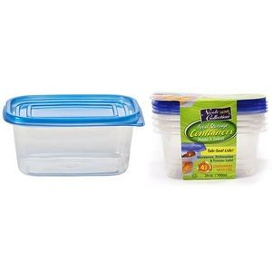24 oz. Rectangular Tab Lid Storage Container 4-Packs - Nicole Home Col