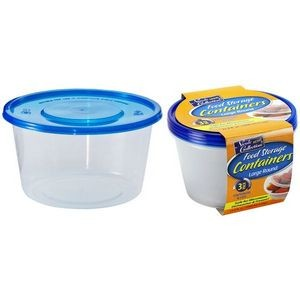 34 oz. Round Storage Container 3-Packs - Nicole Home Collection (Case