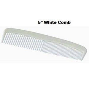 Disposable White 5 Plastic Comb