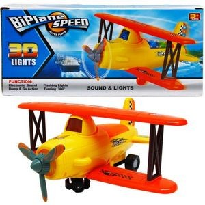 10 Battery Operated Plane with Light and Sound (Case of 24)
