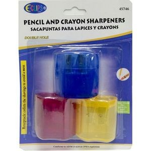 Pencil/Crayon Sharpener - 3 pack