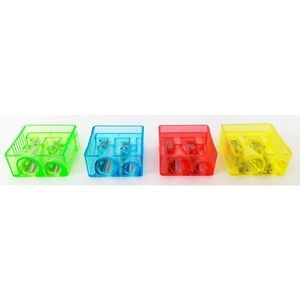 Pencil Sharpeners - 4 Assorted Colors (Case of 500)