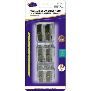 Metal Pencil Sharpeners - 3/Pack