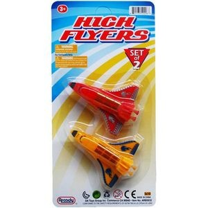2-Piece 3.5 Free Wheel Mini Airplanes (Case of 72)