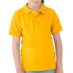 Jerzees Irregular Youth Polo Shirts - Gold - Small