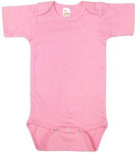 Custom Baby Short Sleeve Pink One Piece - 0-3M