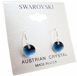 Custom Blue Crystal Drop Earrings