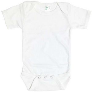Custom Baby Short Sleeve White One Piece - 12-18M