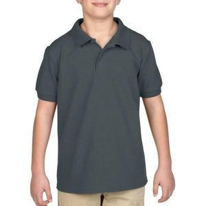 Irregular Gildan Youth Polo Style # 94800B Charcoal - Size Small
