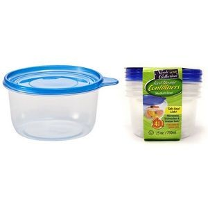 25 oz. Round Tab Lid Storage Container 4-Packs - Nicole Home Collectio