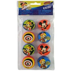 Mickey Roadsters 8 Pack Round Sharpeners