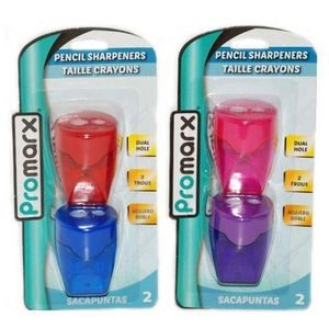 Promarx Dual Hole Pencil Sharpener - 2 Count