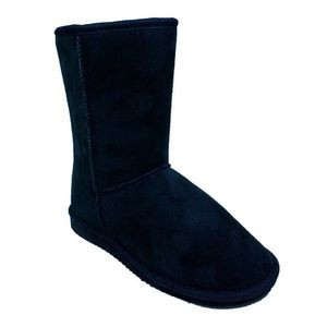Women's Faux Shearling Boots - Black
