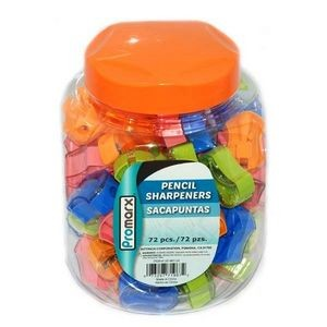 72 Piece Promarx Pencil Sharpeners - Assorted