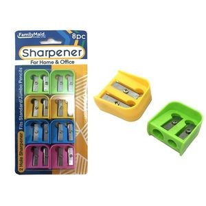 2 Hole Sharpeners - Assorted Colors (4 Piece)