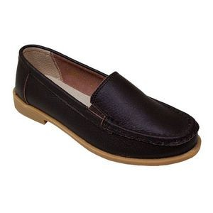 Women's Cognac Slip On Loafer Moccasins