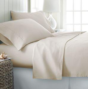 Custom Soft Essentials Premium Double Brushed 4 Piece Sheet Set (Queen - Cream)