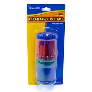 Dual Hole Pencil/Crayon Sharpener - 2 Pack