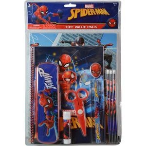 Spiderman 11 Piece Value Pack with Plastic Pencil Case