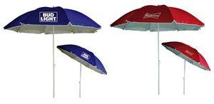 Custom Budweiser/Bud Light 72 Beach Umbrellas - Assorted Brand Styles