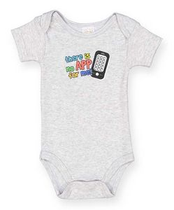 Custom Baby Onesies There Is No App For Me - Sizes 0-12M