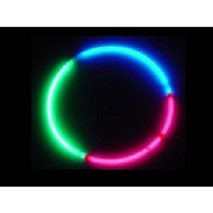 Custom Tri Colored 22 Glo Necklaces Glow In The Dark