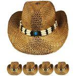 Custom Brown Straw Cowboy Hat