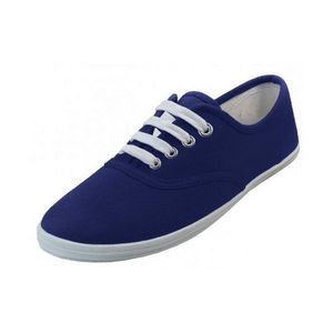 Women's Navy Color Canvas Shoes (24 pairs)