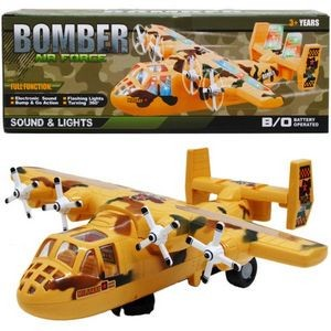 11.5 Battery Operated Plane with Light and Sound (Case of 24)