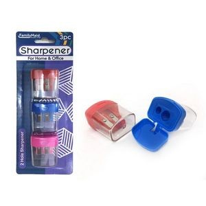 2-Hole Sharpeners with Waste Container (3 Piece)
