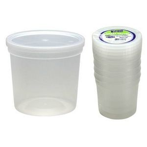 24 oz. Plastic Deli Container with Lids - 5-Packs - Nicole Home Collec