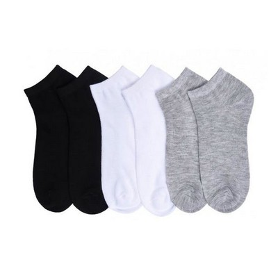 Adult Unisex Assorted Color Lightweight Low Cut Socks - Size 9-11
