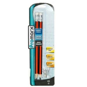 Promarx Primary Pencils with Sharpener 2ct