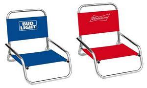 Custom Budweiser/Bud Light Folding Beach Chairs - Assorted Brand Styles