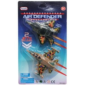 2-Piece 4 Pull Back Action Airplane Defender Set (Case of 48)