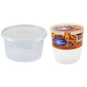 16 oz. Round Storage Container 6-Packs - Nicole Home Collection (Case