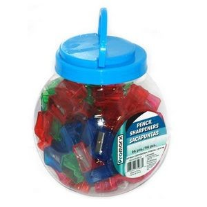 96 Piece Promarx Pencil Sharpeners - Assorted