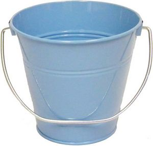 Custom Metal Bucket - Light Blue Solid Colors (4.3 x 4.3)