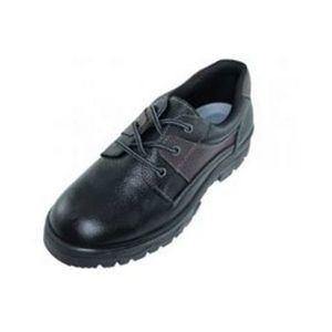 Men's Ankle Height Leather Work Shoes - Black