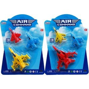3-Piece 3-4 Pull Back Action Airplanes (Case of 72)