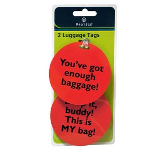 Custom Assorted Fun Phrase Luggage Tags