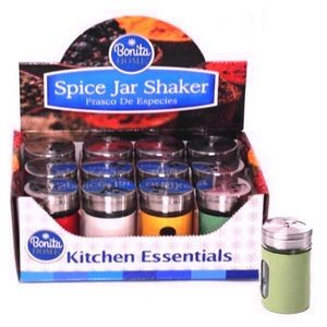 Spice Jar Shakers In PDQ 4 Colors (Case of 72)